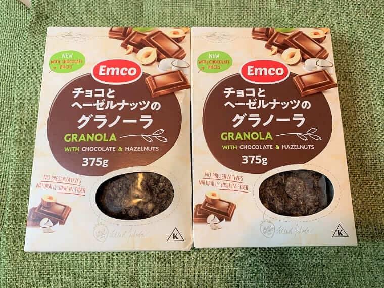 業務スーパーのチョコとヘーゼルナッツのグラノーラのパッケージ