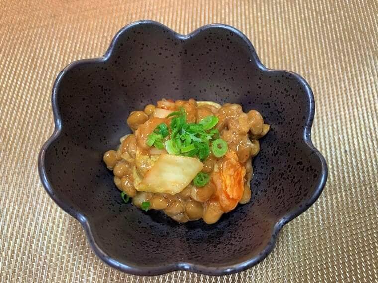 業務スーパーの納豆で作った納豆キムチ