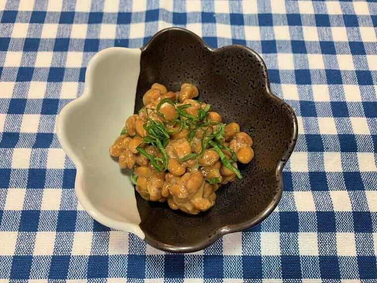 梅干しと大葉入りの納豆