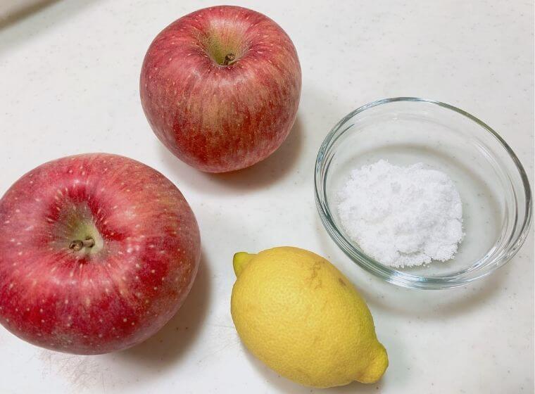 リンゴとレモンと砂糖