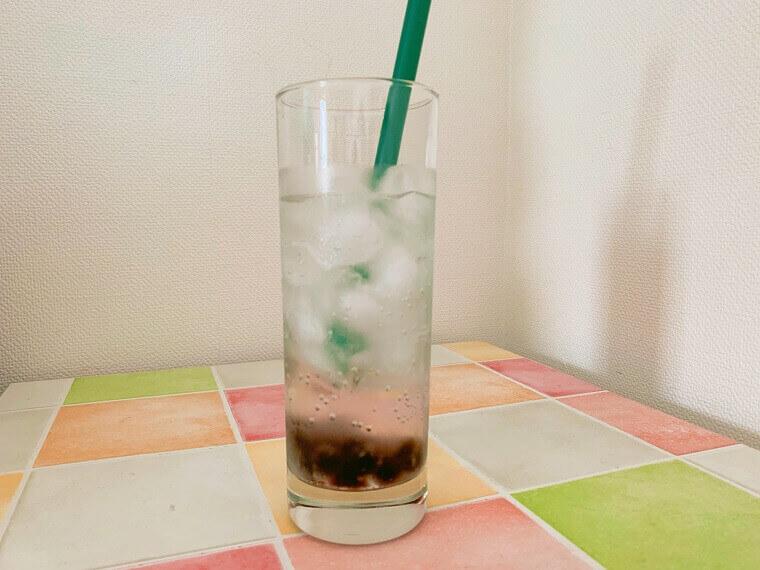 フレーバー炭酸水で作ったタピオカジュース