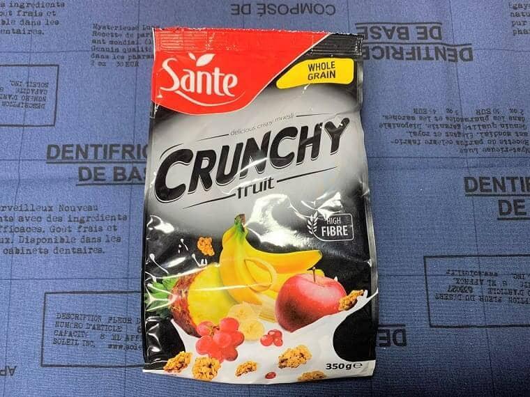 業務スーパーのシリアル、クランキーフルーツパッケージ