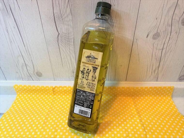 業務スーパーのバージンエキストラオリーブオイルのパッケージ写真