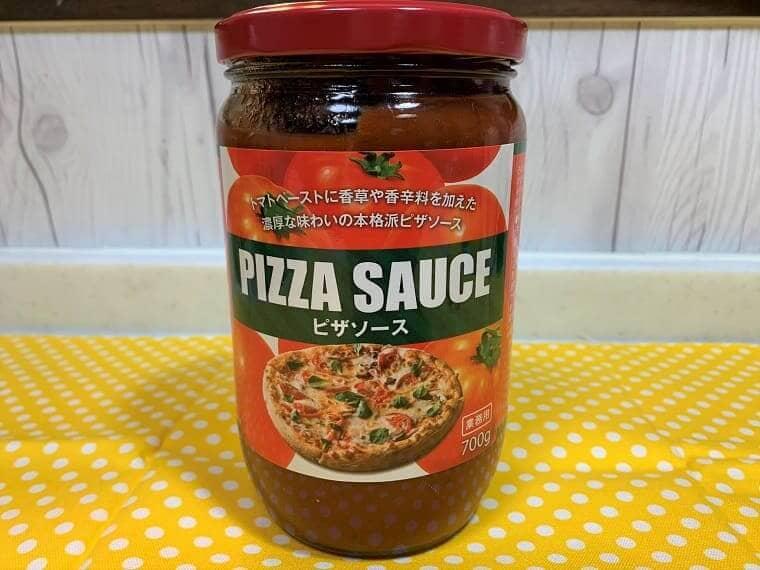 業務スーパーの瓶入りピザソース