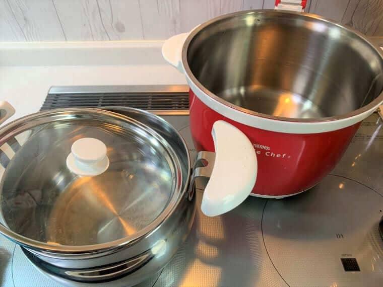 シャトルシェフの鍋を出した写真