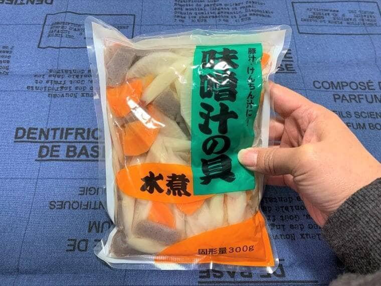 業務スーパーの味噌汁の具のパッケージ