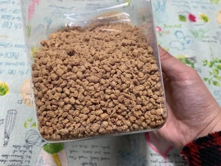 乾燥した大豆ミートの写真