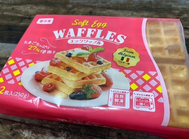 業務スーパーのエッグワッフルのパッケージ写真