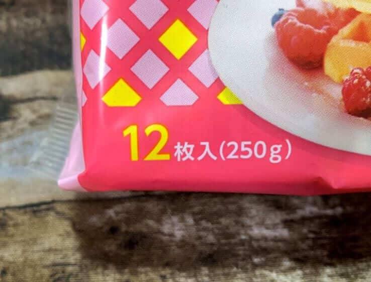 業務スーパーのエッグワッフルの内容量