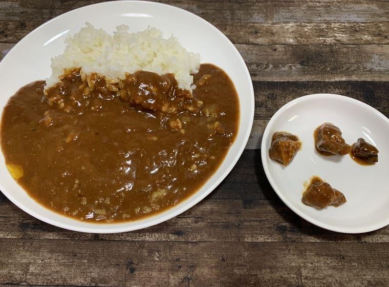 業務スーパーのお肉がゴロッとビーフカレーのお肉の数