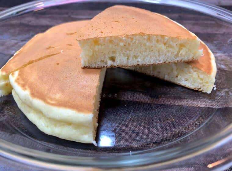 朝日軽金属のオールパンで焼いたホットケーキ