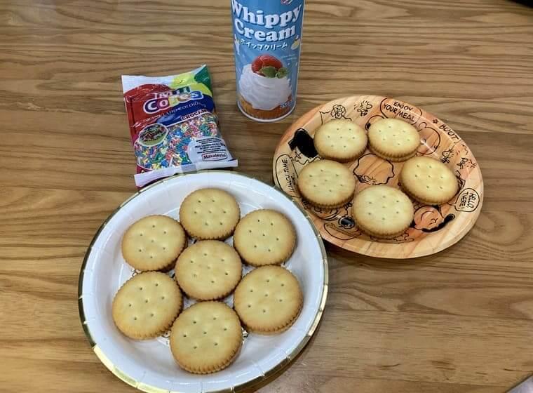 業務スーパーのチーズクリームサンドクラッカーのアレンジレシピ