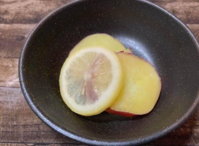 業務スーパーのレモンスライスを使ったさつまいものレモン煮