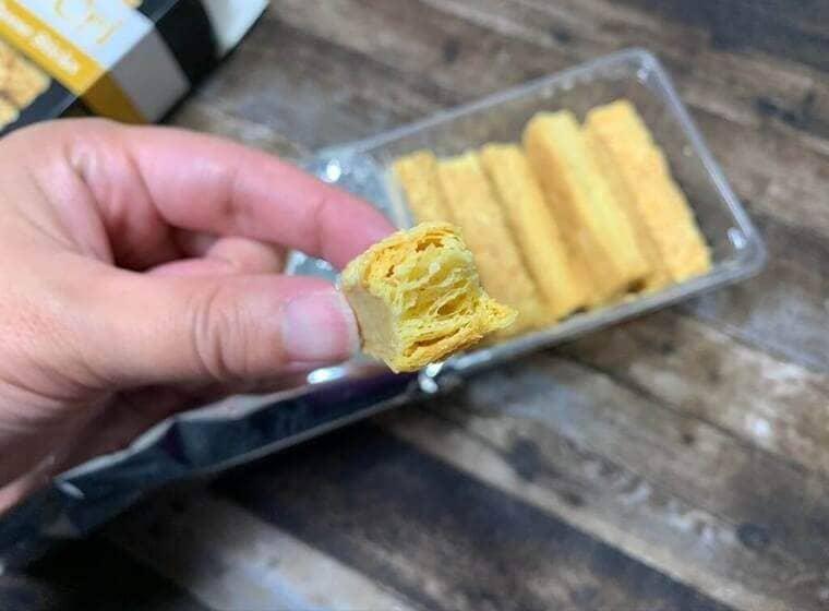 業務スーパーのゴーダチーズスティックの断面写真