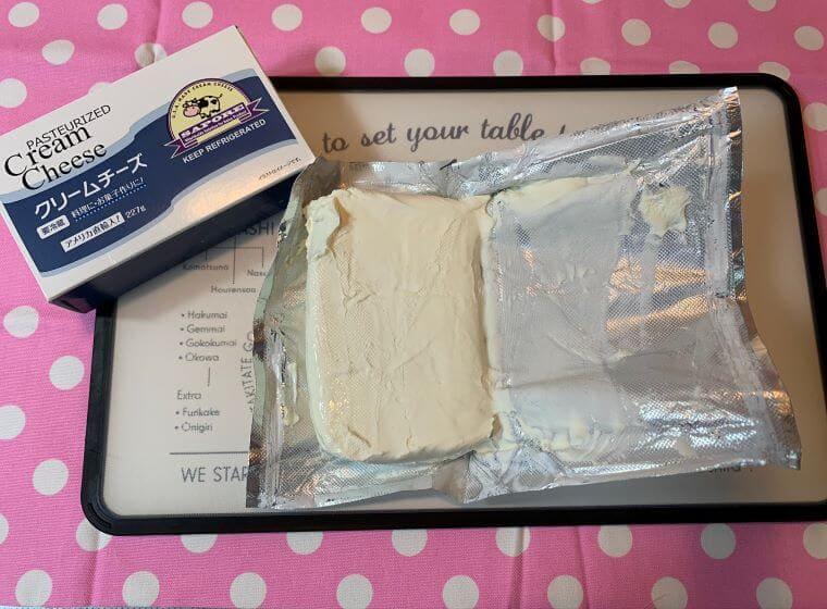 業務スーパーのアメリカ産クリームチーズ