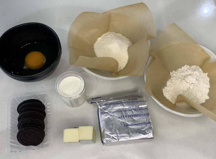 業務スーパーのクリームチーズのベイクドチーズケーキの材料