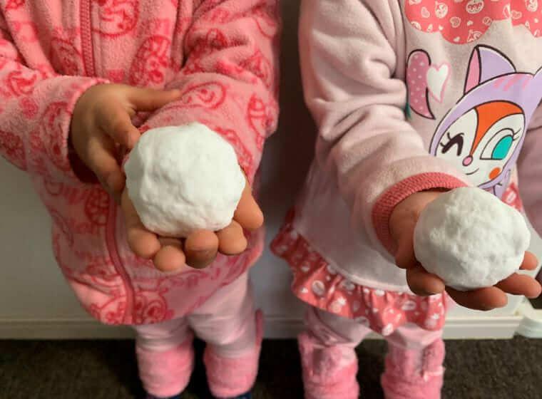 業務スーパーの片栗粉で作ったバスボール