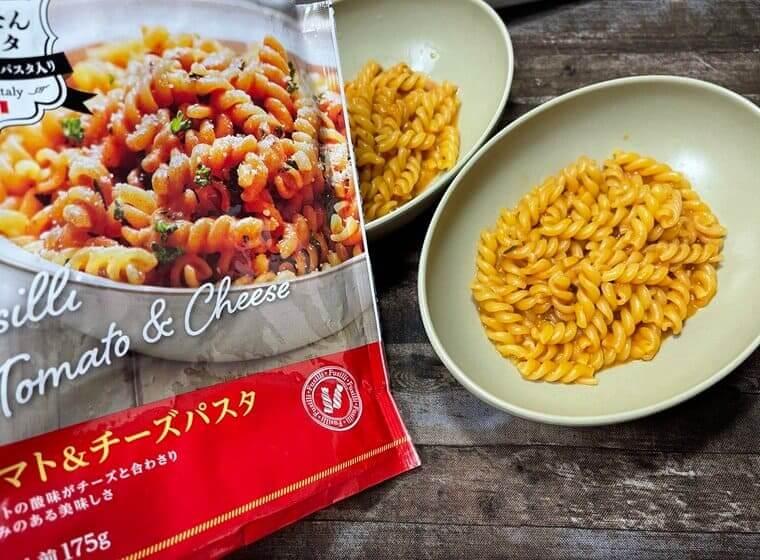 業務スーパーの簡単パスタのトマトチーズパスタ
