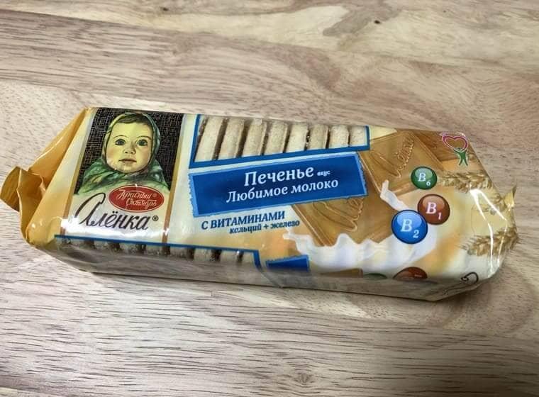 業務スーパーのアリョンカビスケットのパッケージ写真